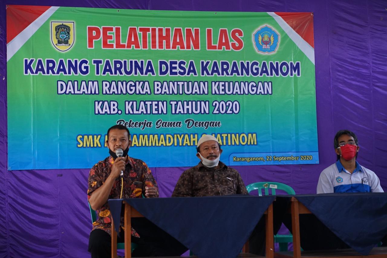 SMK MUHAMMADIYAH 2 JATINOM MBANGUN DESA: PELATIHAN LAS KARANGTARUNA DESA KARANGANOM