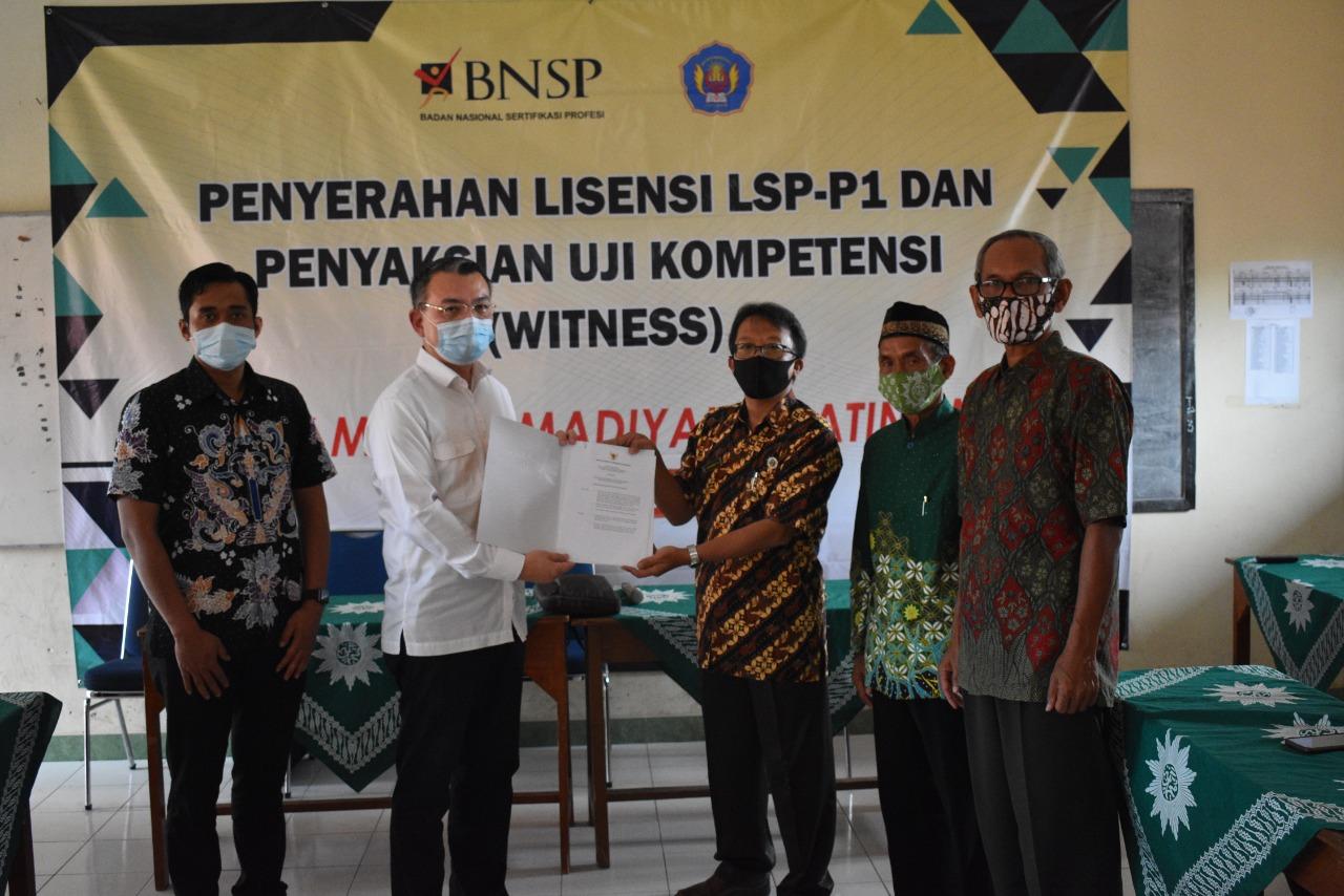 Witness LSP P1 SMK Muhammadiyah 2 Jatinom
